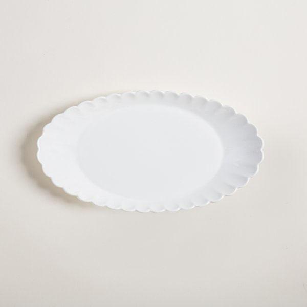 Fuente ovalada con borde 27 x 15 cm