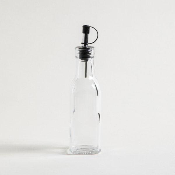 Aceitera-cuadrada-vidrio-y-pico-acero-150ml