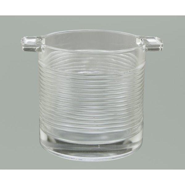Hielera vidrio líneas horizontales 15x15 cm