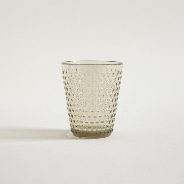 Vaso bajo de acrílico Drops Gold 300 ml