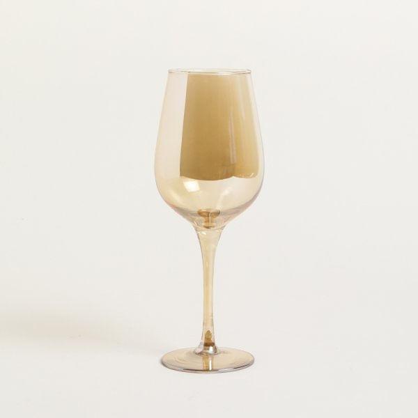 Copa de vidrio dorada 7 x 24 cm
