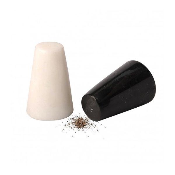 Salero y pimentero mármol blanco y negro