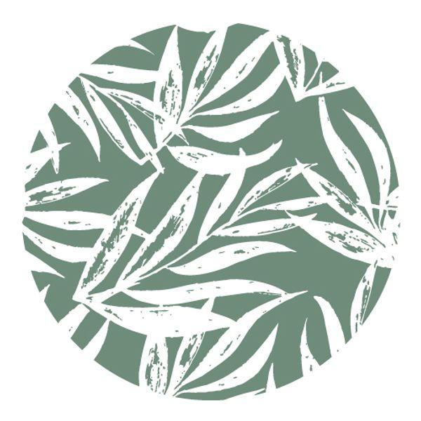 Individual redondo Laurel verde