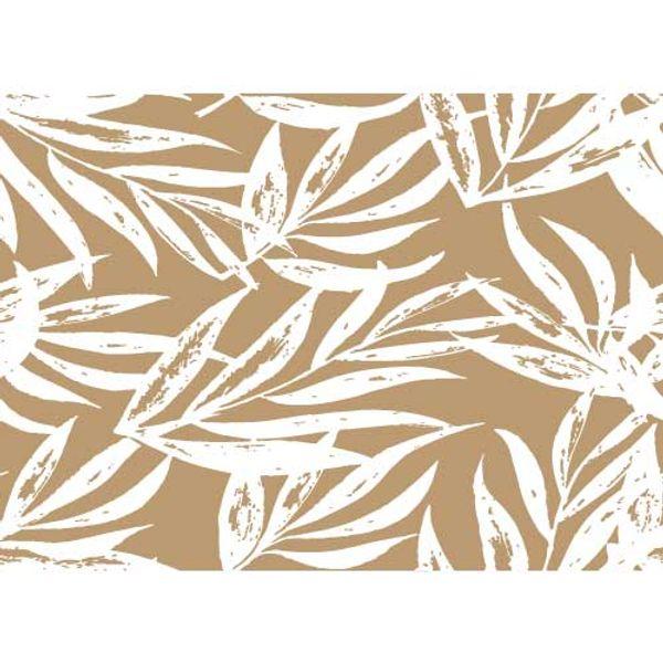 Individual simple Laurel blanco con fondo Habano