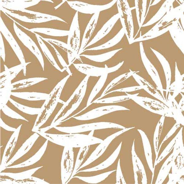 Mantel ecocuero  Laurel blanco con fondo Habano 1.4 x 2.4 mts