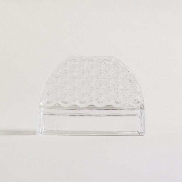 Servilletero de vidrio diseño olas 12 x 9 cm