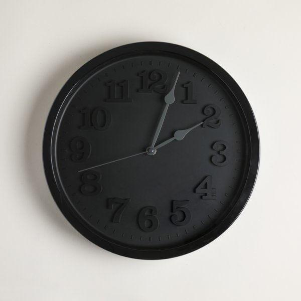 Reloj redondo brooklin black & black 30 cm