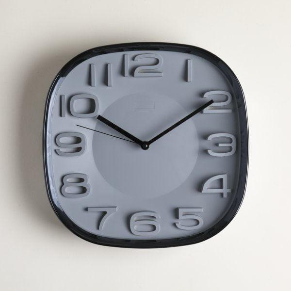 Reloj cuadrado brooklin black & gray 30 cm