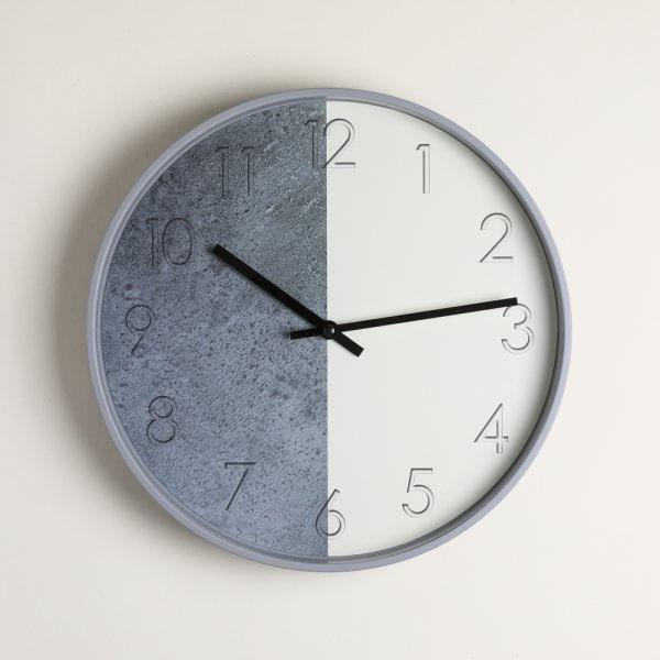 Reloj redondo midtown white & gray 30.5 cm
