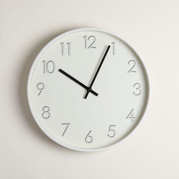 Reloj redondo midtown white 30.5 cm